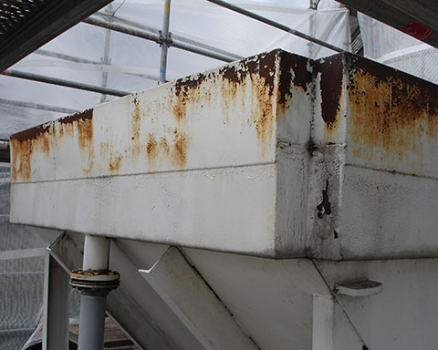 Steel-chemical-treatment-tank-with-external-corrosion