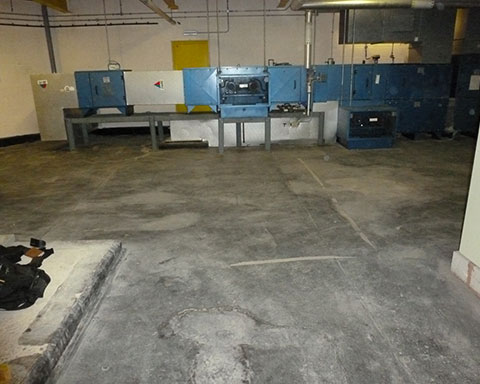 Concrete-plant-room-floor-with-failed-felt-and-mastic-before-repair-and-waterproof-floor-coating-by-COVAC