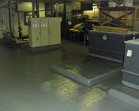 Plant-room-floor-after-preparation-and-concrete-waterproof-coating-applied-by-COVAC
